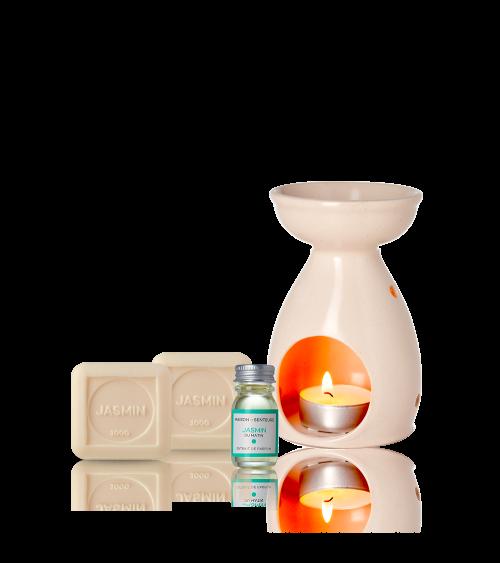 Coffret Cadeau Maison Parfumée Jasmin du matin - Maison de Senteurs - Tunisie