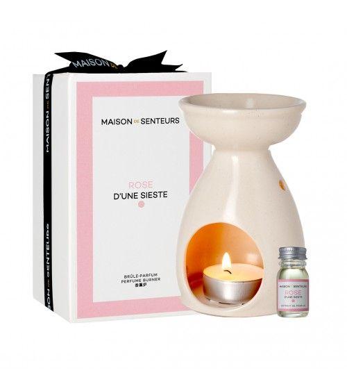Brûle parfum céramique rose maison de senteurs